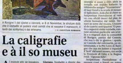 Il Friuli – La caligrafie e à il so museu