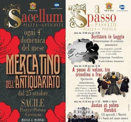 Mercatino dell'antiquariato a Sacile ogni 4ª domenica del mese