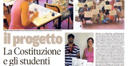 Messaggero Veneto – La Costituzione e gli studenti amanuensi