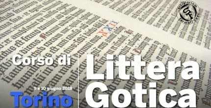 Corso Intensivo di Littera Gotica (Torino)<br/>Gothic Writing Workshop